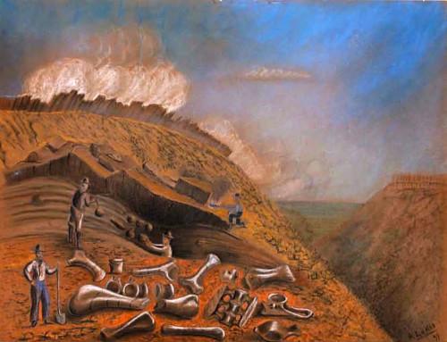 Dinosaur Quarry, circa 1878